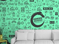 Green Dragon Concept Pattern