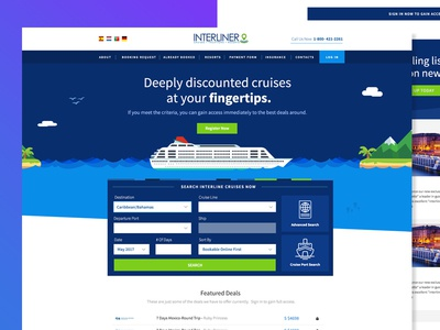 Cruise Booking Site - Alt Concept