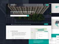 Real Estate Analytics Homepage