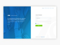 Login/Landing Page - Health Care Platform