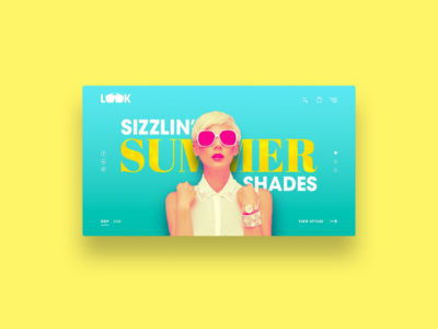 LOOK Sunglasses web design