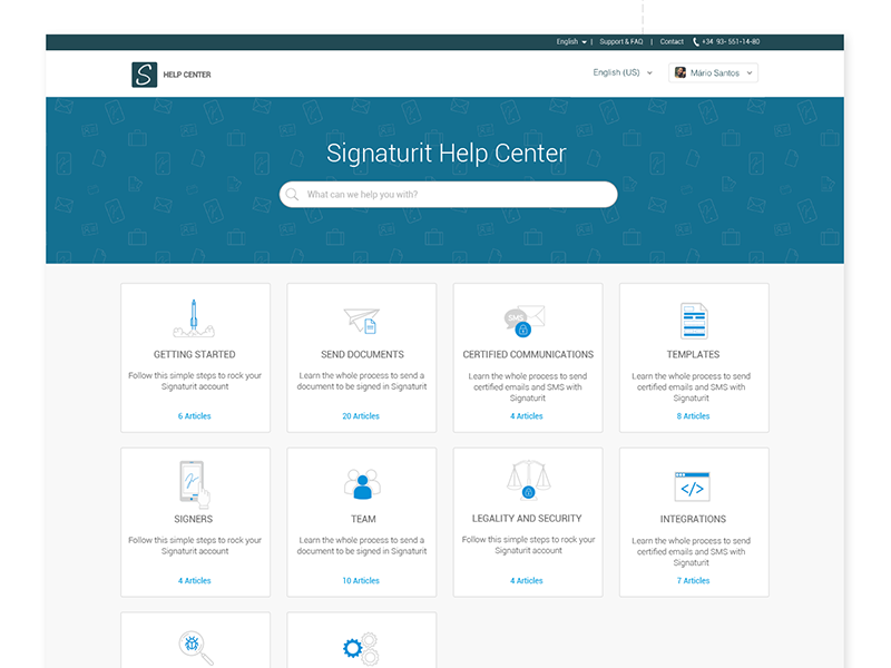 Signaturit Help Center. by Ibelis Garzón on Dribbble