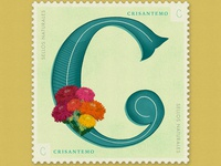 Letter C · Crisantemo · #36daysoftype #SellosNaturales
