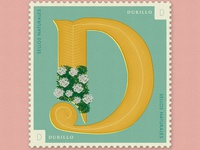 Letter D · Durillo · 36DaysOfType #SellosNaturales