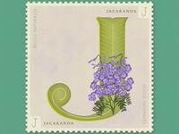 Letter J · Jacaranda · #36daysoftype #SellosNaturales