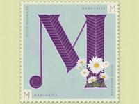 Letter M · Margarita · #36daysoftype #SellosNaturales