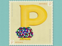 Letter P · Petunia · #36daysoftype #SellosNaturales