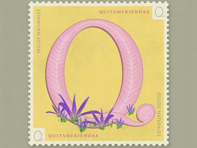 Letter Q · Quitameriendas · #36daysoftype #SellosNaturales