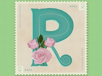 Letter R · Rosa · #36daysoftype #SellosNaturales