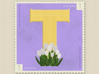 Letter T · Tulipán · #36daysoftype #SellosNaturales