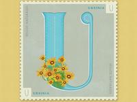 Letter U · Ursinia · #36daysoftype #SellosNaturales
