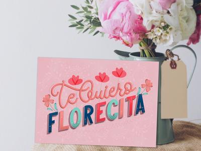 Greeting card: Te Quiero Florecita (I love you little flower)