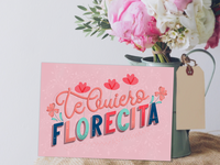 Greeting card: Te Quiero Florecita (I love you little flower)