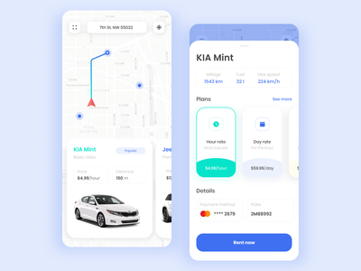 Car sharing App ui carsharing car