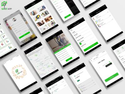 Sarif App Screen Design With Logo (HOME SERVIES APP)