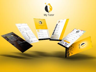 My Tutor App Screen Design With Logo (Education Application)