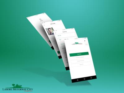 Lahore Motorway City App design with Logo