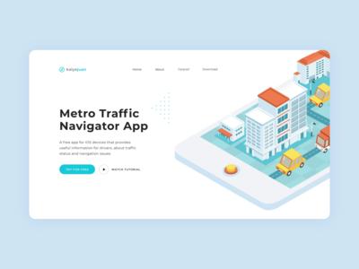 Kalye Juan Website minimal designer vector web design website uxui uiux ux metro roadmap design app road cars illustration flat design branding