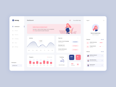 Designer Dashboard modern ui ux user interface design schedule website concept illustration web design website dashboard flat vector minimal design ux ui ux ui design