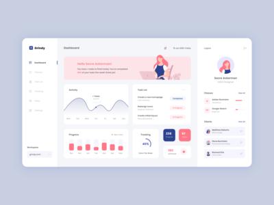 Designer Dashboard modern ui ux user interface design schedule website concept illustration web design website dashboard flat vector minimal design ux ui ux ui design