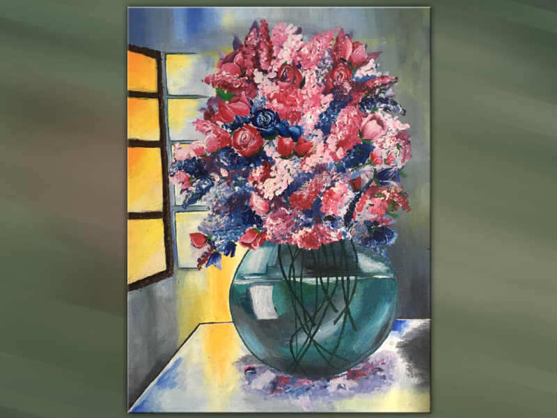 Canvas- Flower vase flowervase canvas