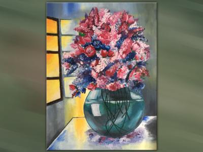 Canvas- Flower vase