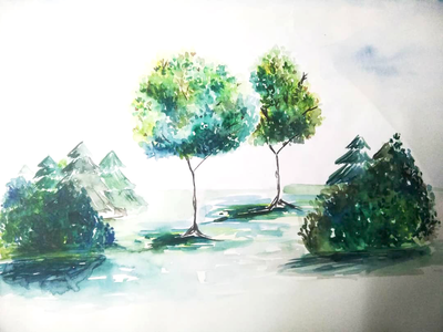 Trees - Water Color Painting
