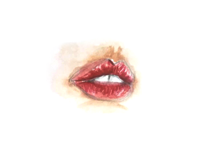 Lips watercolor lips character illustration creative design artwork art 2d design creative
