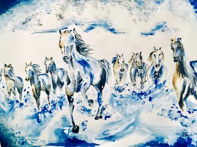 Horses Acrylic Painting