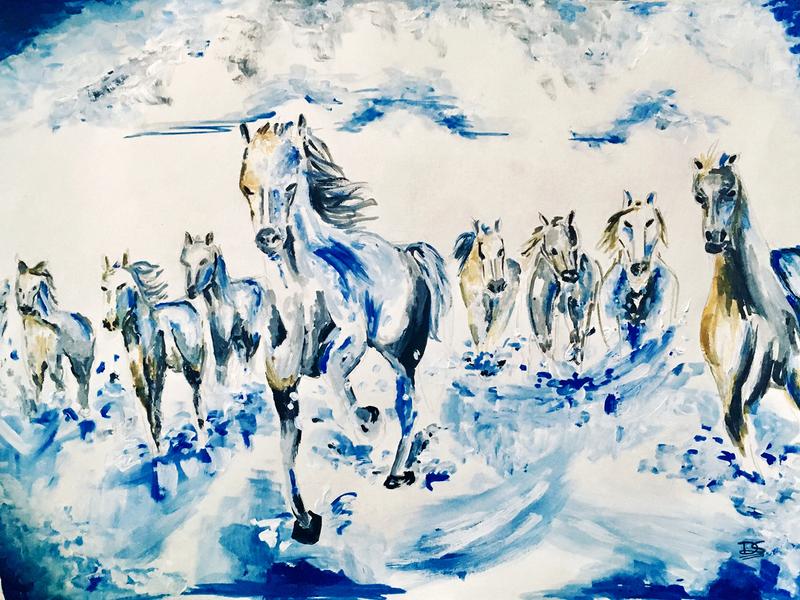 Horses Acrylic Painting acrylic painting acrylic creative design artwork art 2d design creative