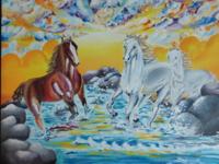 Canvas- Horses