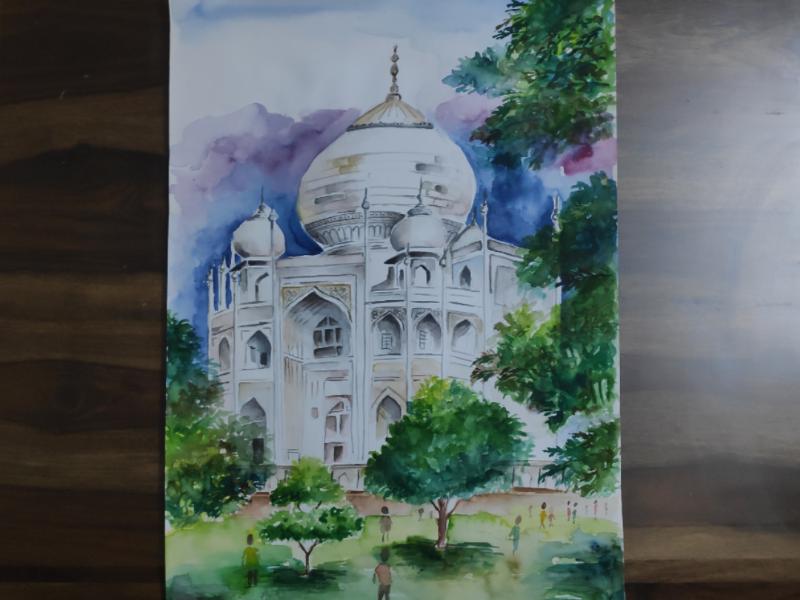 Taj Mahal - Water Color watercolor tajmahal