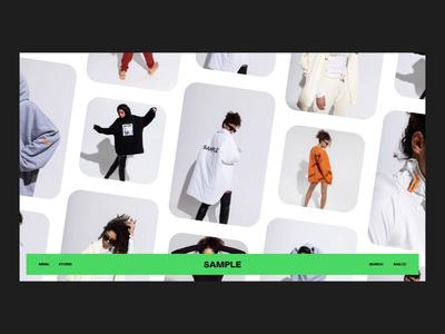 SAMPLE store webgl gif store logo minimal grid fashion ecommerce animation web design web layout clean slider typography