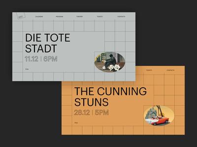 WDT Theatre logo tag share article blog magazine illustration ui web design web clean landing minimal layout grid slider typography