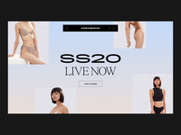 Miraswim lookbook navigation blog store shop branding ecommerce animation landing layout slider logo grid ui typography web design
