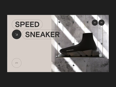 GOAT Store sneaker shop 3d cinema4d slider animation ecommerce landing minimal layout ui grid web typography