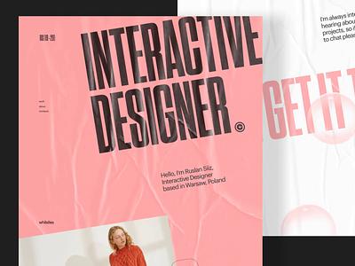 Folio No.02 illustraion website ux branding clean landing slider logo web design minimal ui texture portfolio grid layout typography