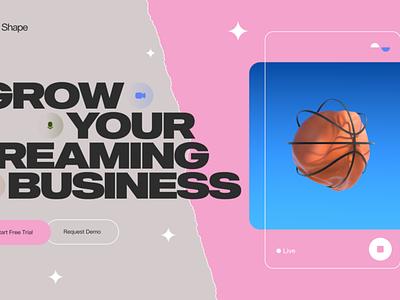 Shape landing cinema4d layout grid branding slider web design web typography motion graphics graphic design animation 3d ui