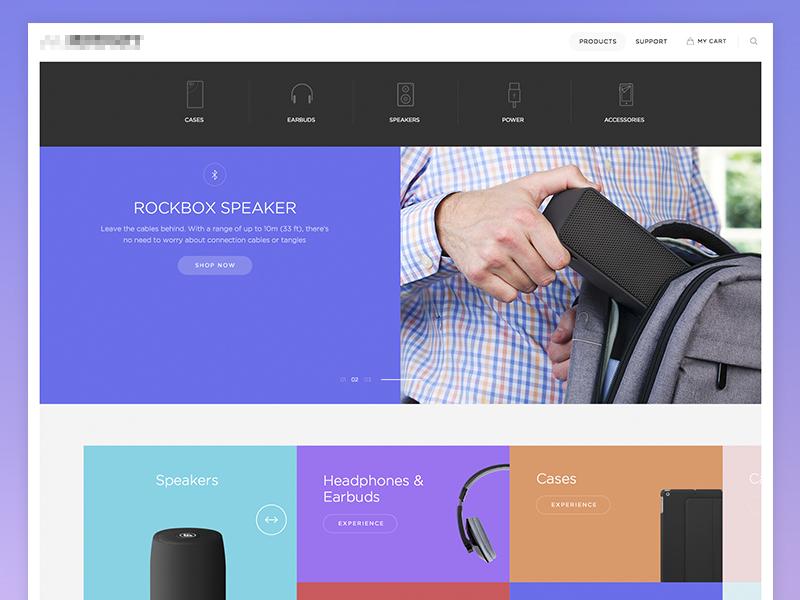 dropdown bigdropinc color navigation dropdown flat ux ui design commerce clean shop slider