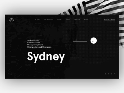 Dribbble 1 splash web slider event logo subscribe contacts typography