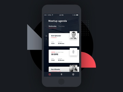 React Conference - App timeline calendar conference event layout grid typography ux ui app mobile