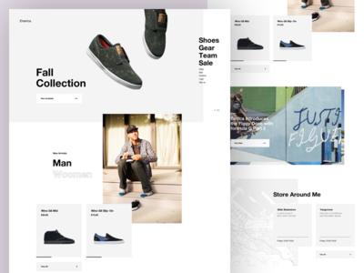 Emerica perfumes layout typography grid landing minimal shop instagram logo web photography ecommerce