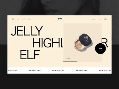 COMA web design animation minimal ui grid flat layout clean slider typography