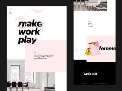 OWN grid landing web design animation layout minimal slider clean ux ui typography