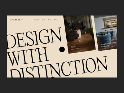 STUDIOLISE interior agency studio portfolio web design web grid landing minimal animation layout slider ui typography