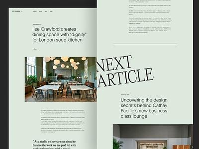 STUDIOLISE - ARTICLE portfolio studio agency landing slider ui blog news web design layout grid typography magazine article