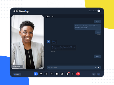 Join Meeting Mobile view ui web