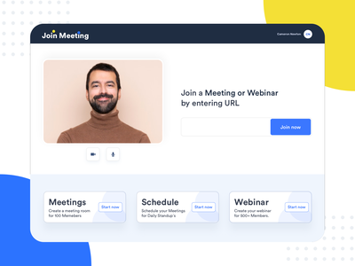 Join a meeting or webinar by entering URL