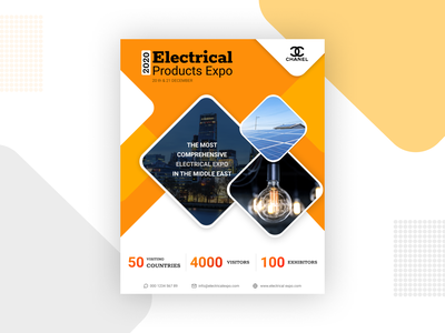 Flyer Design for Electrical Product's Expo 2020 design graphic design branding