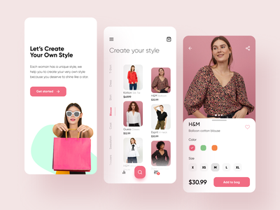 Women's clothing app clothing design shopping app ecommerce app fashiondesign fashion app clothes shop ecommerce mobile app mobile ui uidesign ui app design app